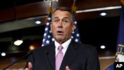 Le président de la Chambre,John Boehner, a renoncé à faire opposition au relèvement du plafond de la dette