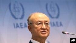 아마노 유키야 국제원자력기구(IAEA) 사무총장이 지난 6월 기자회견에서 북한에 대한 핵 검증 작업 재개 준비가 돼 있다고 밝혔다.