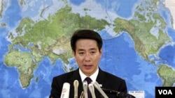 Menlu Jepang Seiji Maehara mengumumkan pengunduran dirinya, Minggu (6/3).