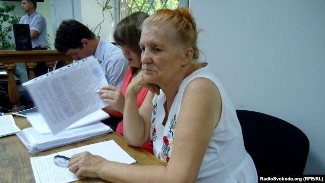 Раїса Радченко на судовому засіданні, Запоріжжя, 15 липня 2013 року