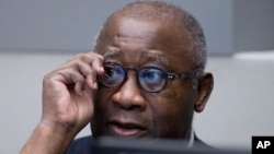 Laurent Gbagbo attend le début de son procès devant la CPI à La Haye, le 28 janvier 2016. (AP Photo/Peter Dejong, Pool)