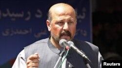 Hashmat Karzai, người anh em họ của Tổng Thống Afghanistan, phát biểu trong một cuộc họp báo tại Kandahar, ngày 28/3/2014.