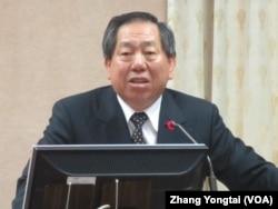 台湾国安局长蔡得胜(美国之音张永泰拍摄)