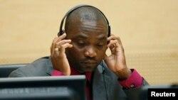 Mantan pemimpin milisi Kongo Germain Katanga dalam sidang ICC di Den Haag, 15 Mei 2012 (Foto: dok).