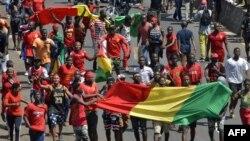 Manifestation pacifique contre le président Kondé
