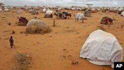 Un enfant court dans le camps de réfugiés de Dadaab le 4 août 2001.