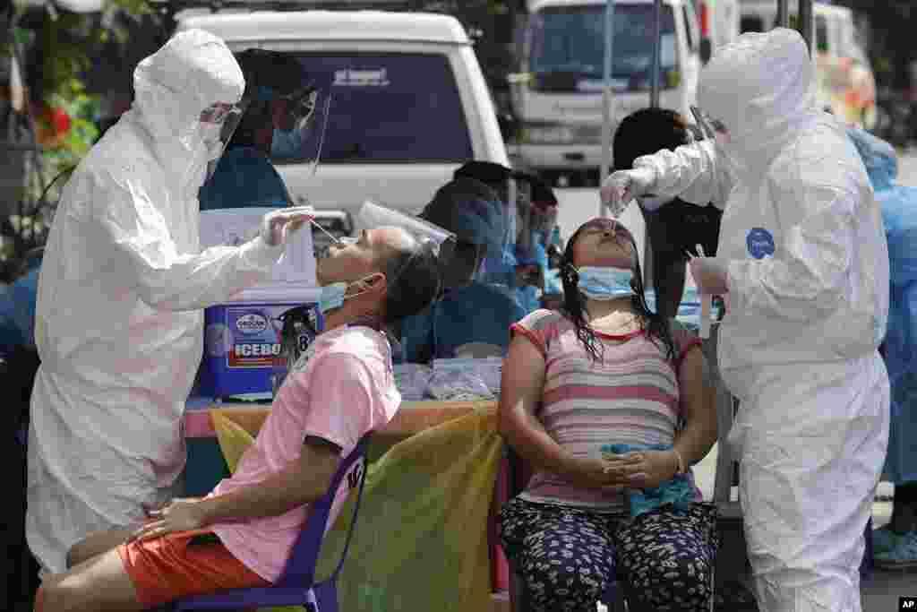 Koronavirusga test. Filippin.