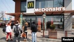 Nhà hàng McDonald tại thành phố Simferopol ở Crimea, ngày 4/4/2014.
