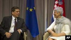 Premijerka Kosor i američki senator hrvatskog podrijetla Mark Begich