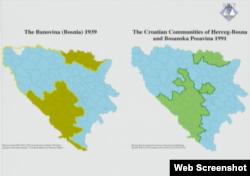 Dokaz kojim tužioci ukazuju na sličnost Hrvatske banovine iz 1939. i Herceg-Bosne iz 1991.