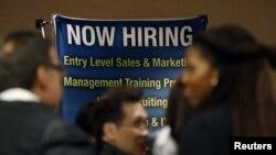 지난 10월 뉴욕시 취업박람회에 모인 구직자들.