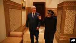 Биньямин Нетаньяху с султаном Омана Кабусом бен Саидом