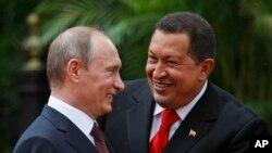 Владимир Путин и Уго Чавес