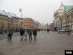 波兰华沙街头。