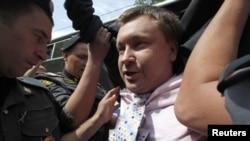 Задержание Николая Алексеева в Москве