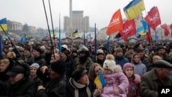우크라이나 수도 키예프의 독립광장에서 9일 반정부 시위가 벌어졌다. (자료사진)