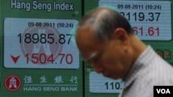 Seperti halnya indeks-indeks saham di seluruh dunia, Indeks Hang Seng Hong Kong ikut turun pada hari Selasa (9/8).