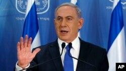 Benjamin Netanyahu dijo en una conferencia de prensa en Tel Aviv que no cederá a la presión internacional para detener la ofensiva en la Franja de Gaza.