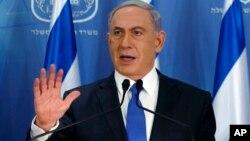 이스라엘의 베냐민 네탄야후 총리.