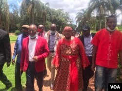MDC-T presidential candidates before the party's presidential election in Harare. (VOA)