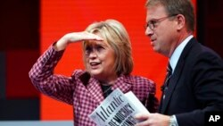 Хиллари Клинтон и Джеффри Голдберг