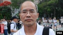 香港時事評論員劉銳紹認為香港目前的局勢未直接威脅北京政權,相信不會出動解放軍。(美國之音湯惠芸拍攝)
