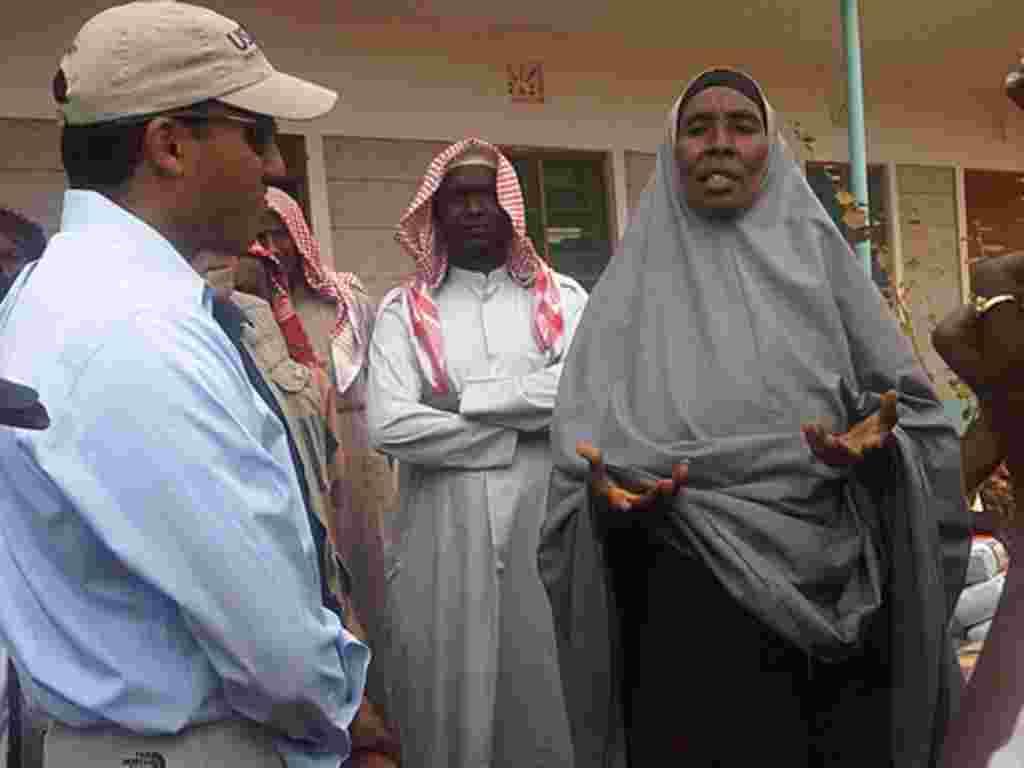 Rajiv Shah, administrador de USAID, llegó a Kenia para visitar el campamento de refugiados de Dabaab, en Kenia.