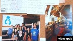 Tempat penampungan mahasiswa, Bruin Shelter, di California. (Foto: VOA/videograb)