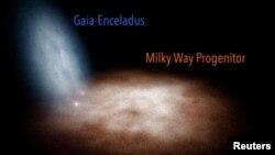 """""""ირმის ნახტომი"""" 10 მილიარდი წლის წინ. ფოტოს უფლება Instituto de Astrofisica de Canarias"""