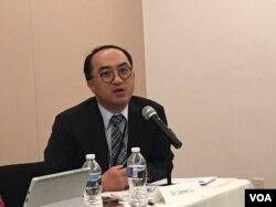 台湾驻美代表处卫生组组长卢道扬 (美国之音钟辰芳拍摄)