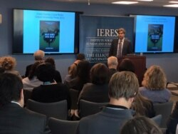 Alexander Cooley, Columbia University, speaks at CESS annual meeting, Central Asia Program, GWU