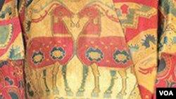 sasanit textile persian fallow deer