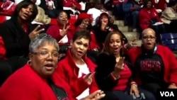 奧巴馬連任 非洲裔美國人慶祝