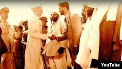بلوچ رہنما کوئٹہ میں جناح کا استقبال کرتے ہوئے