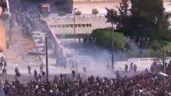Atina'da Gösteriler Devam Ediyor