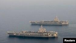 美國布殊號航空母艦(資料照)