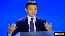 阿里巴巴集團董事局主席馬雲在上海出席2018世界人工智能大會 (2018年9月18日)