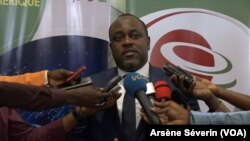 Marc Sakala, directeur des réseaux et services des communications électroniques, en République du Congo, le 22 juillet 2019. (VOA/Arsène Séverin)