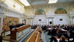 미국 샌프란시스코에 있는 제9 순회항소법원 심리 현장. (자료사진)