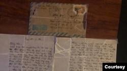 Lá thư mà viên Đội Trưởng chấp Pháp T.A.N gửi cho tôi sau khi anh đổi về Bắc.
