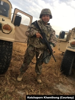 Kotchaporn Khemthong is a Thai-born supply specialist based in Fort Hood, Houston, Texas.