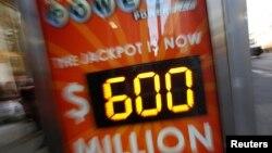 Pemenang lotere Powerball sebesar 590 juta dolar AS hingga saat ini belum menampakkan diri (foto; dok).