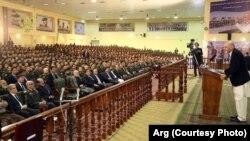 رئیس جمهور غنی می گوید که در مذاکرات صلح ارزشها معامله نخواهد شد