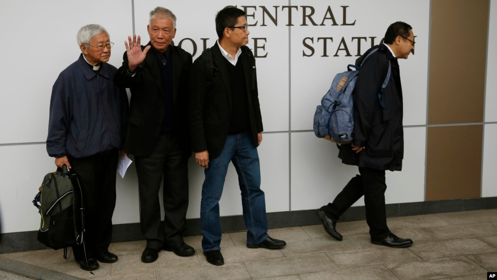 Hong Kong Protest Leaders Surrender to Police