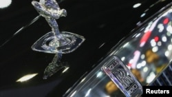 FILE - The logo of Rolls-Royce is pictured at the 38th Bangkok International Motor Show in Bangkok, Thailand, March 28, 2017.
