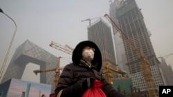 Một góc công trường xây dựng ở Bắc Kinh.