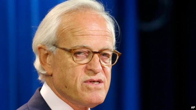 FILE -  Martin Indyk speaks at the State Department in Washington.
