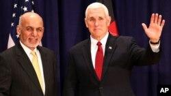 Президент Афганистана Ашраф Гани и вице-президент США Майк Пенс