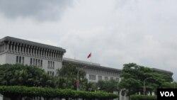 台湾外交部大楼( 美国之音 张永泰拍摄)