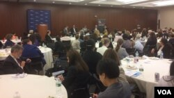 """A widely diverse group of stakeholders attended the """"This Land is Your Land"""" immigration conference, sponsored by the New York Immigration Coalition. (A. Phillips - VOA)"""